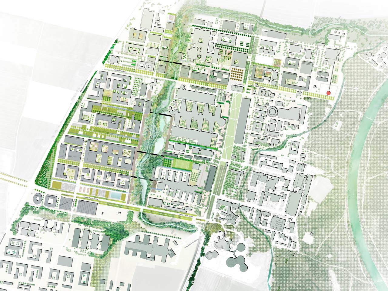 Wettbewerb science city m%c3%bcnchen garching campus fakultaet elektro und informationstechnik masterplan original