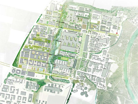 Wettbewerb science city m%c3%bcnchen garching campus fakultaet elektro und informationstechnik masterplan preview